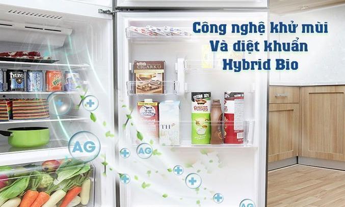 Description: Tủ lạnh Toshiba GR-M28VUBZ(UB) 226 lít xanh đen khử mùi diệt khuẩn vượt trội