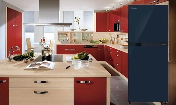 Description: Tủ lạnh Toshiba GR-M28VUBZ(UB) 226 lít xanh đen thiết kế lịch lãm